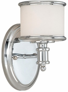 Vaxcel CR-VLU001CH Carlisle Chrome Finish 7.5  Wide Wall Sconce