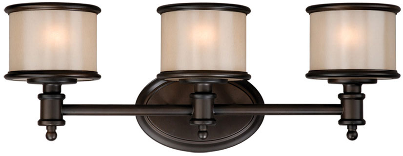 "Bathroom Light Fixtures Bronze Finish vaxcel cr-vlu003nb carlisle noble bronze finish 8"" tall 3-light"