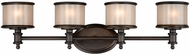 Vaxcel CR-VLU004NB Carlisle Noble Bronze Finish 7.5  Wide 4-Light Bathroom Wall Sconce