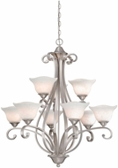 Vaxcel CS-CHU009BN Caspian Traditional Brushed Nickel Finish 32.5  Wide Chandelier Lighting