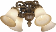 Vaxcel DY-LKD004HP Dynasty Traditional Helenic Patina Finish 20.75 Wide Ceiling Fan Light Fixture
