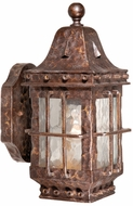 Vaxcel ED-OWD050CI Edinburgh Traditional Colonial Iron Finish 12.5  Tall Outdoor Lamp Sconce