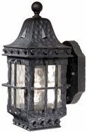 Vaxcel ED-OWD050TB Edinburgh Traditional Textured Black Finish 7  Wide Exterior Wall Sconce Lighting