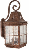 Vaxcel ED-OWD110CI Edinburgh Traditional Colonial Iron Finish 27.25 Tall Outdoor Wall Mounted Lamp
