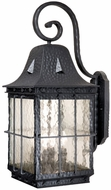 Vaxcel ED-OWD110TB Edinburgh Traditional Textured Black Finish 15.25 Wide Exterior Wall Light Sconce