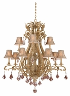 Vaxcel EP-CHS012PP Empire Traditional Phoenician Platinum 47.75  Tall Chandelier Lighting