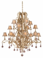 Vaxcel EP-CHS016PP Empire Traditional Phoenician Platinum Finish 56  Wide Lighting Chandelier