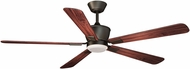 Vaxcel F0015 Geneva Oil Rubbed Bronze Halogen Fan Light Fixture