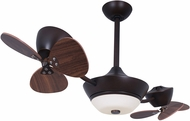Vaxcel F0019 Eclipse II Contemporary Oil Rubbed Bronze Halogen Ceiling Fan Light Fixture