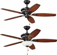 Vaxcel F0030 Vasari New Bronze Home Ceiling Fan