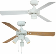 Vaxcel F0034 Cyrus White Halogen Home Ceiling Fan