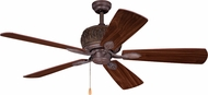 Vaxcel F0049 Alpine Weathered Patina Interior / Exterior Home Ceiling Fan