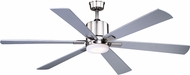 Vaxcel F0050 Wheelock Modern Brushed Nickel LED Indoor / Outdoor Ceiling Fan