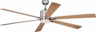 Vaxcel F0051 Wheelock Contemporary Brushed Nickel LED Interior / Exterior Home Ceiling Fan