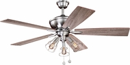 Vaxcel F0054 Clybourn Modern Satin Nickel Ceiling Fan