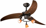 Vaxcel FN48121OR Picard Contemporary Oil Rubbed Bronze Finish 48  Wide Halogen Home Ceiling Fan