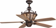 Vaxcel FN56312FP Dynasty Traditional Forum Patina Finish 26.5  Tall Ceiling Fan