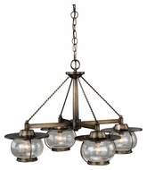 Vaxcel H0007 Jamestown Nautical Parisian Bronze 17.5  Tall Halogen Ceiling Chandelier