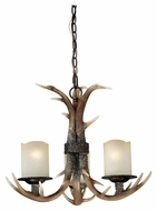 Vaxcel H0013 Yoho Country Black Walnut 21  Wide Mini Chandelier Light