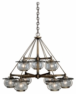 Vaxcel H0028 Jamestown Nautical Parisian Bronze Finish 35  Wide Hanging Chandelier