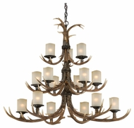 Vaxcel H0029 Yoho Country Black Walnut Finish 52.5  Wide Chandelier Lamp