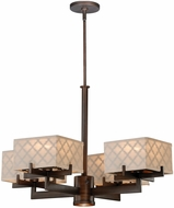 Vaxcel H0040 Arabesque Venetian Bronze Finish 28.375  Wide Lighting Chandelier