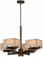 Vaxcel H0042 Twirl Venetian Bronze Finish 28.375  Wide Chandelier Light