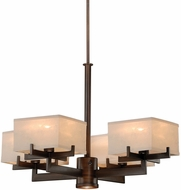 Vaxcel H0043 Canvas Venetian Bronze Finish 19  Tall Ceiling Chandelier