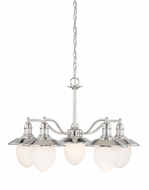 Vaxcel H0048 Marina Bay Polished Nickel Finish 19.25  Tall Hanging Chandelier