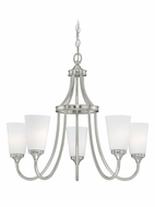 Vaxcel H0054 Lorimer Satin Nickel Finish 22.5  Tall Ceiling Chandelier