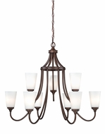 Vaxcel H0055 Lorimer Venetian Bronze Finish 32.5  Wide Hanging Chandelier