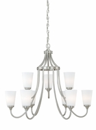 Vaxcel H0056 Lorimer Satin Nickel Finish 28  Tall Chandelier Light