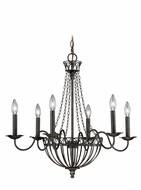 Vaxcel H0058 Novara Traditional Aged Walnut Finish 24.5  Tall Lighting Chandelier
