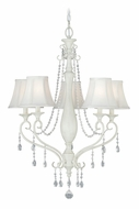 Vaxcel H0061 Bristol Antique Ivory Finish 25  Wide Ceiling Chandelier