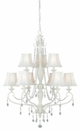 Vaxcel H0062 Bristol Antique Ivory Finish 42.5 Tall Hanging Chandelier