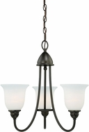 Vaxcel H0063 Concord Oil Rubbed Bronze Mini Chandelier Light