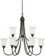 Vaxcel H0065 Concord Oil Rubbed Bronze Hanging Chandelier