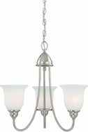 Vaxcel H0067 Concord Satin Nickel Mini Chandelier Lighting