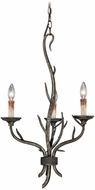 Vaxcel H0071 Monterey Country Autumn Patina Finish 28  Tall Mini Chandelier Light