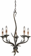 Vaxcel H0072 Monterey Rustic Autumn Patina Finish 22  Wide Mini Chandelier Lighting