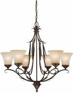Vaxcel H0076 Coricelli Royal Bronze Finish 29.25  Wide Ceiling Chandelier