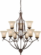 Vaxcel H0077 Coricelli Royal Bronze Finish 36.75  Tall Hanging Chandelier