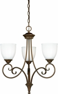 Vaxcel H0081 Claret Venetian Bronze Mini Chandelier Light