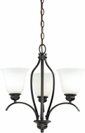 Vaxcel H0084 Darby New Bronze Mini Chandelier Light
