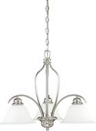 Vaxcel H0113 Darby Satin Nickel Mini Chandelier Lighting