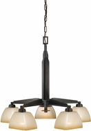 Vaxcel H0115 Descartes II Architectural Bronze Chandelier Light