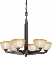 Vaxcel H0116 Descartes II Architectural Bronze Chandelier Lighting