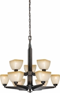 Vaxcel H0117 Descartes II Architectural Bronze Lighting Chandelier