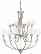 Vaxcel H0129 Grafton Satin Nickel Chandelier Light