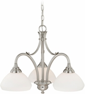 Vaxcel H0131 Grafton Satin Nickel Mini Lighting Chandelier